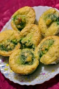 Сырные кексы с брокколи для фуршета