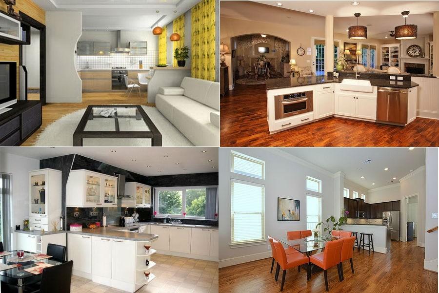 Варианты зонирования кухни