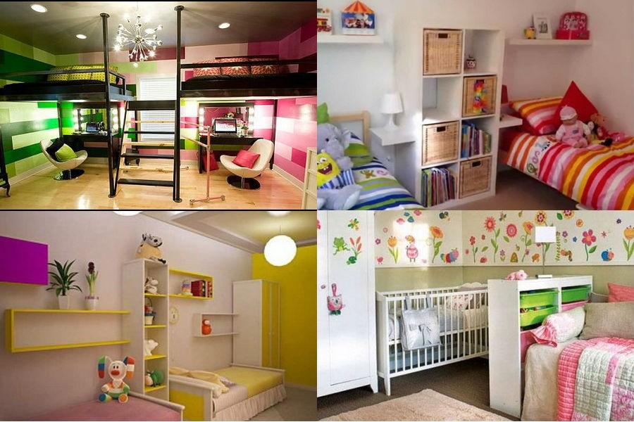 Детская комната разнополых детей, варианты зонирования