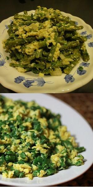 Гарнир из зеленой фасоли