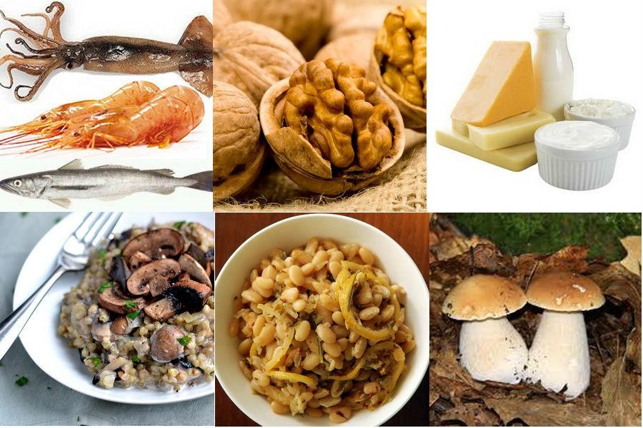 Продукты - источники аминокислот