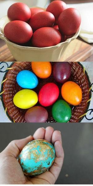 Чем красят яйца