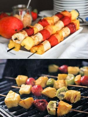 Шашлычки из фруктов и ягод