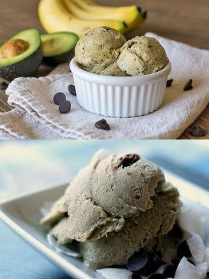 Диетическое мороженое из банана и авокадо