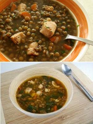 Суп из чечевицы с куриной грудкой