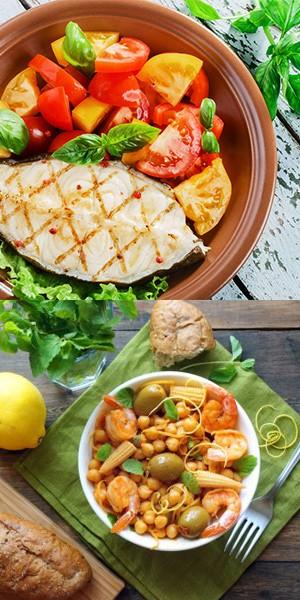 Средиземноморская диета, продукты