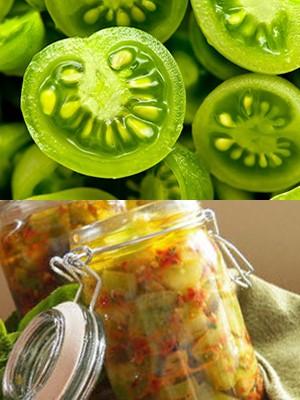 Салат из зеленых помидоров без уксуса
