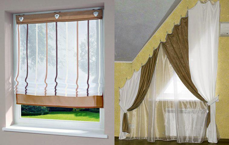 Временные шторы на окна своими руками 49