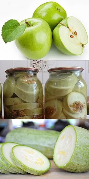 Кабачки в яблочном соке