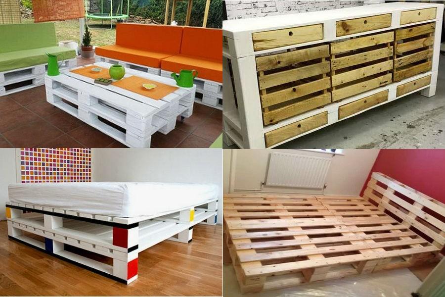 Изготовление мебели из паллет своими руками 64