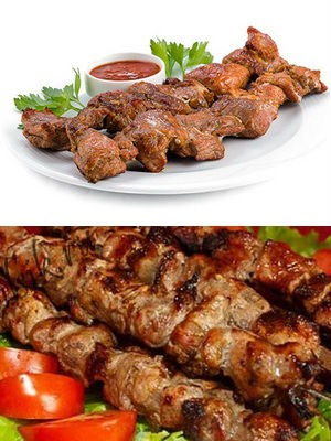 свиной шашлык в маринаде с уксусом и луком