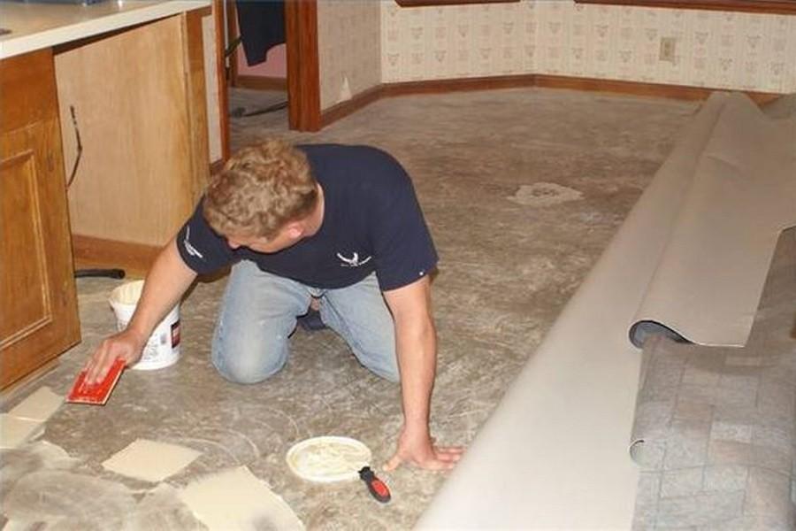 Выравнивание бетонного пола под линолеум своими руками 97