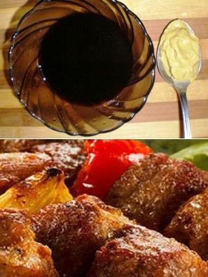 маринад с соевым соусом и майонезом