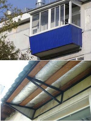 Крыша балкона последнего этажа своими руками 60
