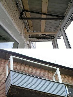 Как сделать крышу балкона на последнем этаже своими руками н.