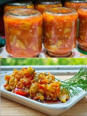 Как сделать заготовку из кабачков и помидор 509