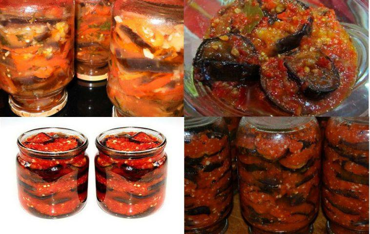 Баклажаны рецепт тещин язык на зиму рецепты пошагово