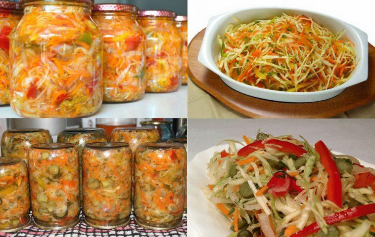 Как сделать на зиму салат из одних  485