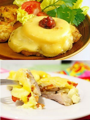 мясо по-французски с ананасом