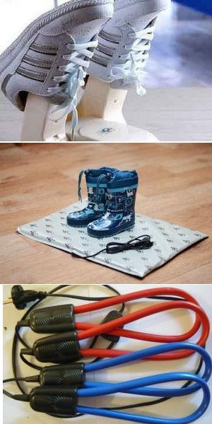 виды электросушилок для обуви