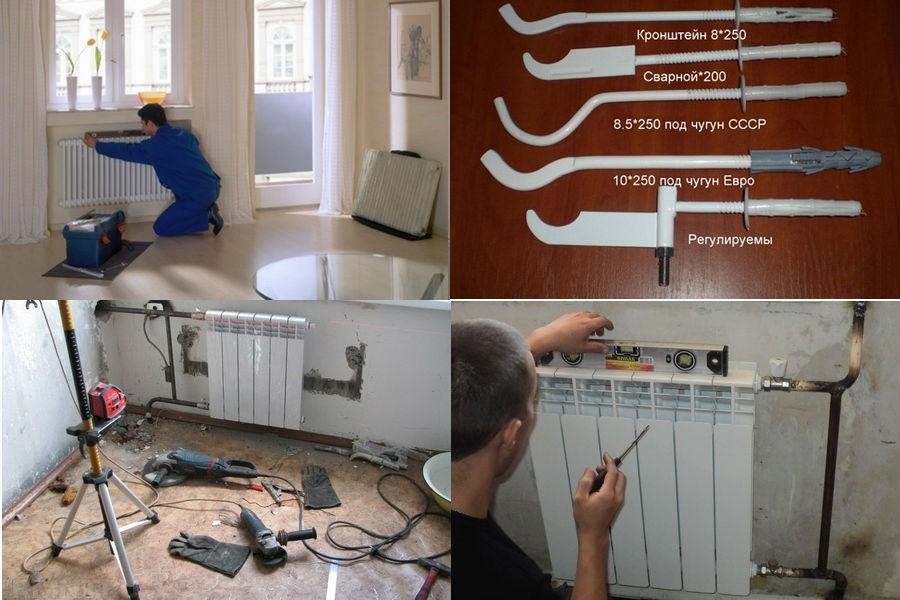 Установка радиаторов в частном доме своими руками 79