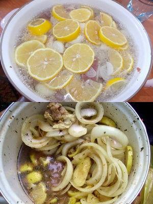 быстрый маринад на минералке с лимоном