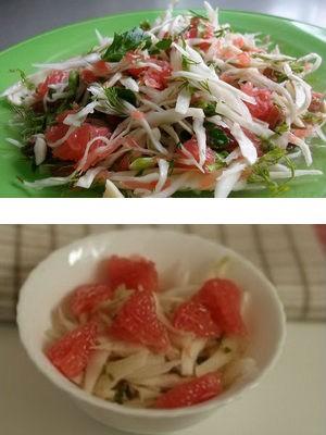 из капусты и грейпфрута