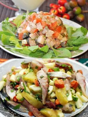 селедка, картошка и помидоры - без майонеза