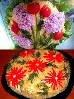 тематический именинный салат
