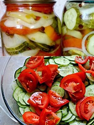 из сырых овощей
