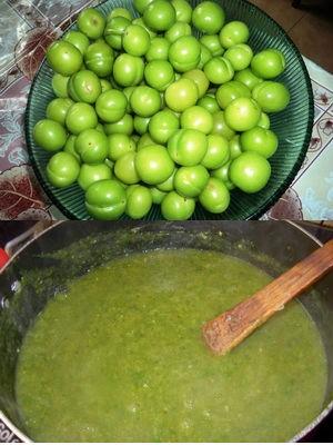 из зеленой алычи
