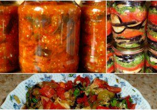 салаты с баклажанами и помидорами на зиму
