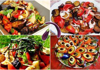 салаты с баклажанами и помидорами - рецепты