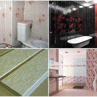 как обшить стены ванной комнаты пластиковыми панелями