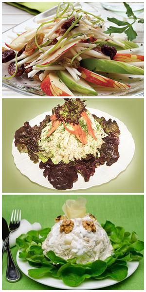 как украсить салат из сельдерея корневого