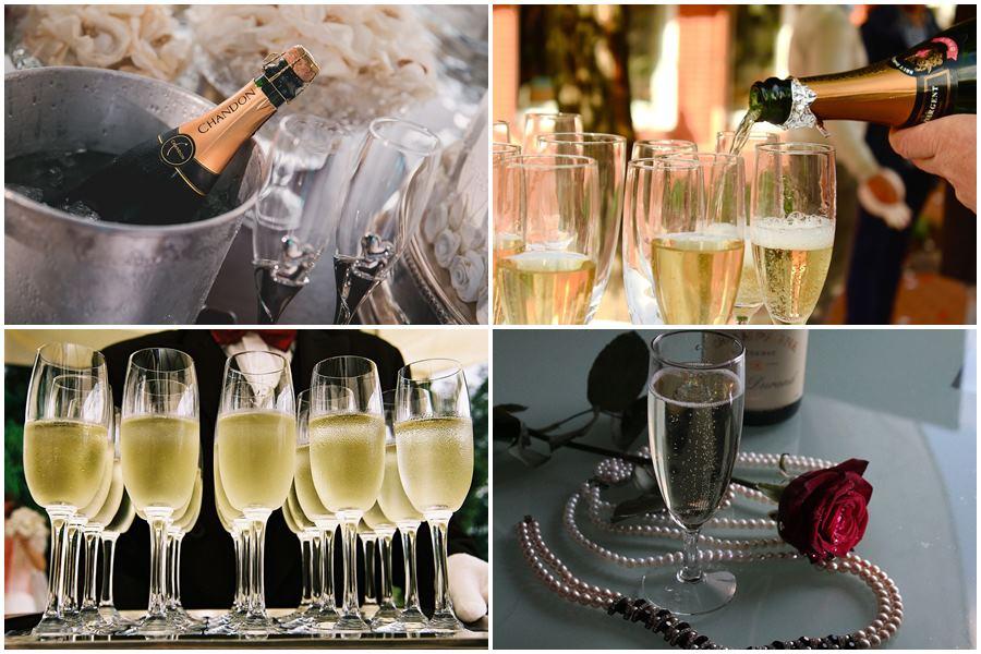 как подавать шампанское