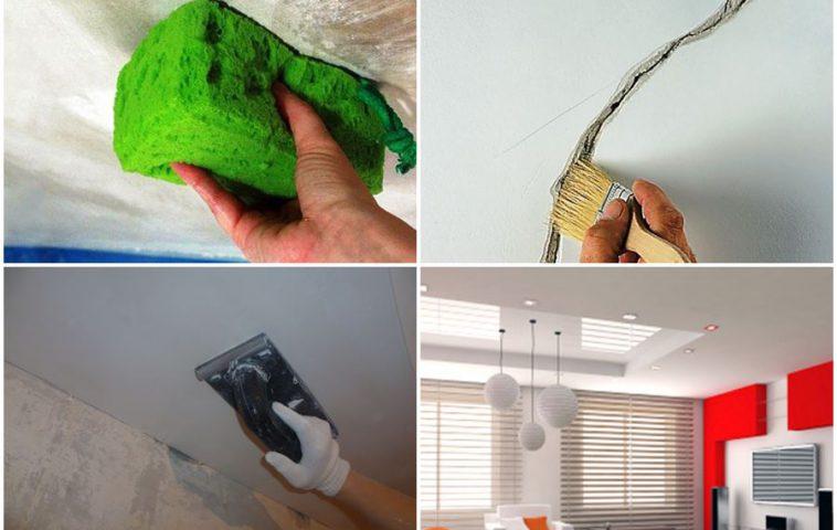 подготовительные этапы ремонта потолка