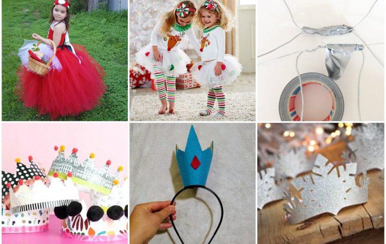 как сделать новогодний костюм для девочки своими руками
