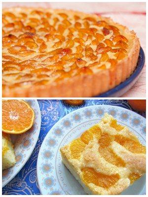 мандариновая шарлотка