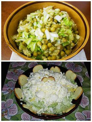 зимний салат из пекинской капусты