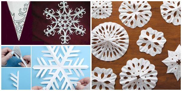 снежинки и салфетки