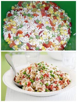 салат с рисом и овощами к новогоднему столу