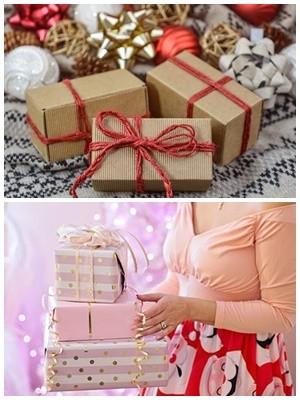 Как оформить подарок к новому году санки