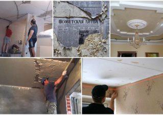ремонт потолка в старом доме