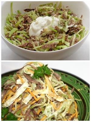 салат из мяса с редькой
