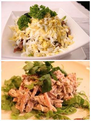 мясной салат с былыком