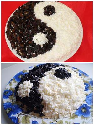 "салат ""Инь-Ян"" с черносливом"