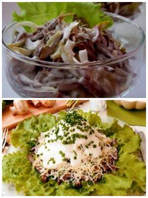 "салат ""Мужские грезы"" с грибами"