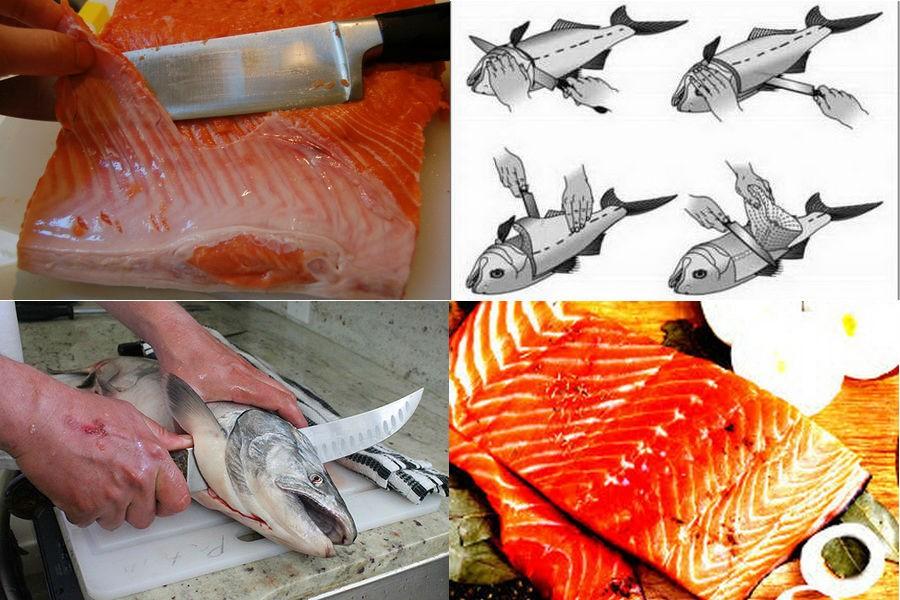 Разделка рыбы на филе