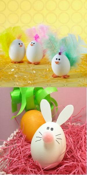 Пасхальные фигурки из яиц